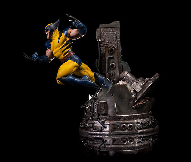 Side View of Wolverine Iron Studios Statue
