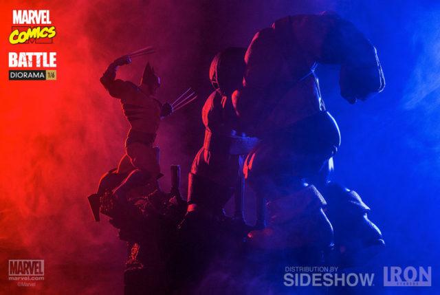 Sideshow Wolverine vs The Juggernaut Diorama Statue Iron Studios