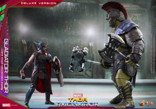 Size Comparison Hot Toys Gladiator Thor vs. Gladiator Hulk