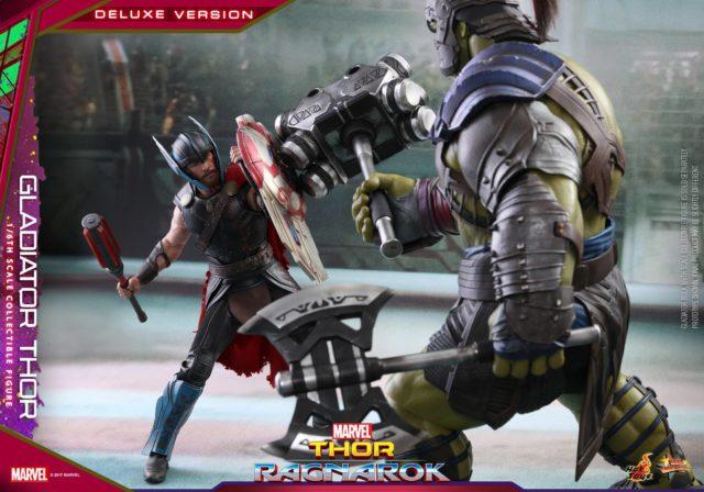 Thor Ragnarok Hot Toys Thor vs Hulk Gladiator Arena Sixth Scale Figures