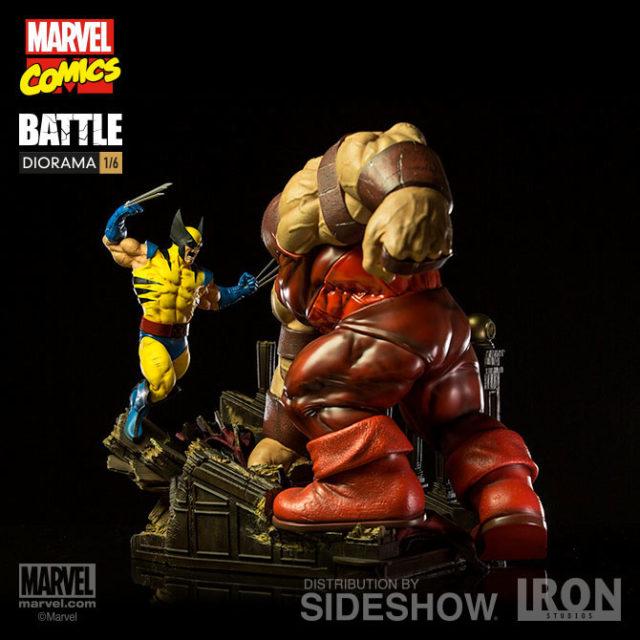 Wolverine vs Juggernaut Diorama Statue Iron Studios