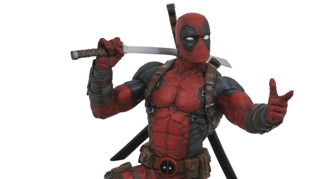 DST Deadpool Resin Statue 12""