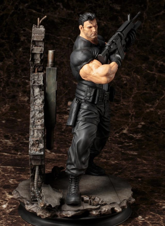 Side View of Koto Punisher Fine Arts Statue