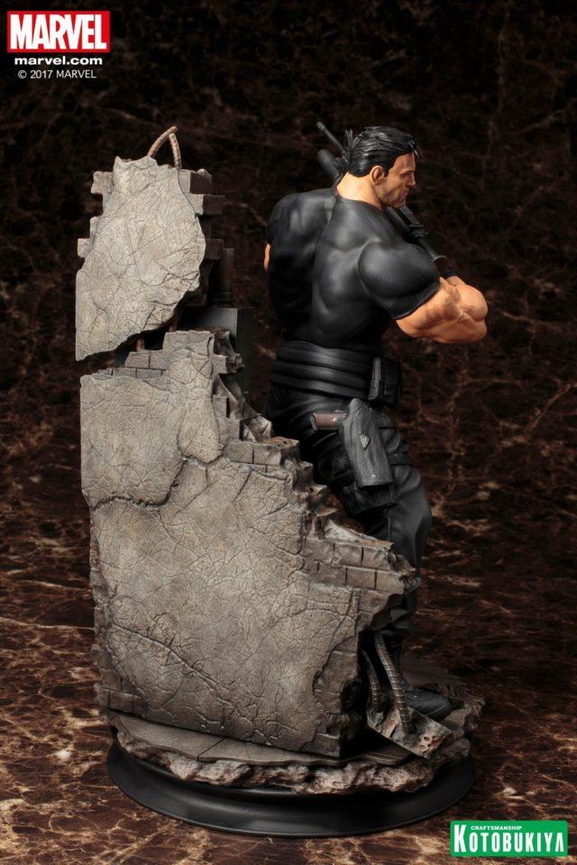 Back of Kotobukiya The Punisher Statue Fine Arts