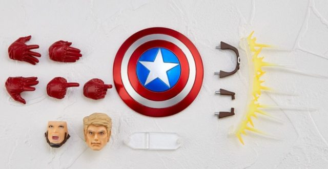Accessories for Kaiyodo Revoltech Captain America Action Figure