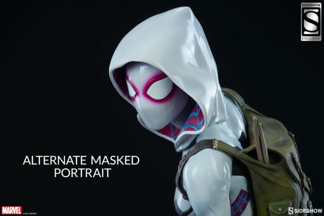 Alternate Masked Head for Spider-Gwen Sideshow Statue Spider-Verse