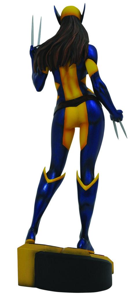 Back of Diamond Select Toys X-23 Wolverine Marvel Gallery PVC Figure