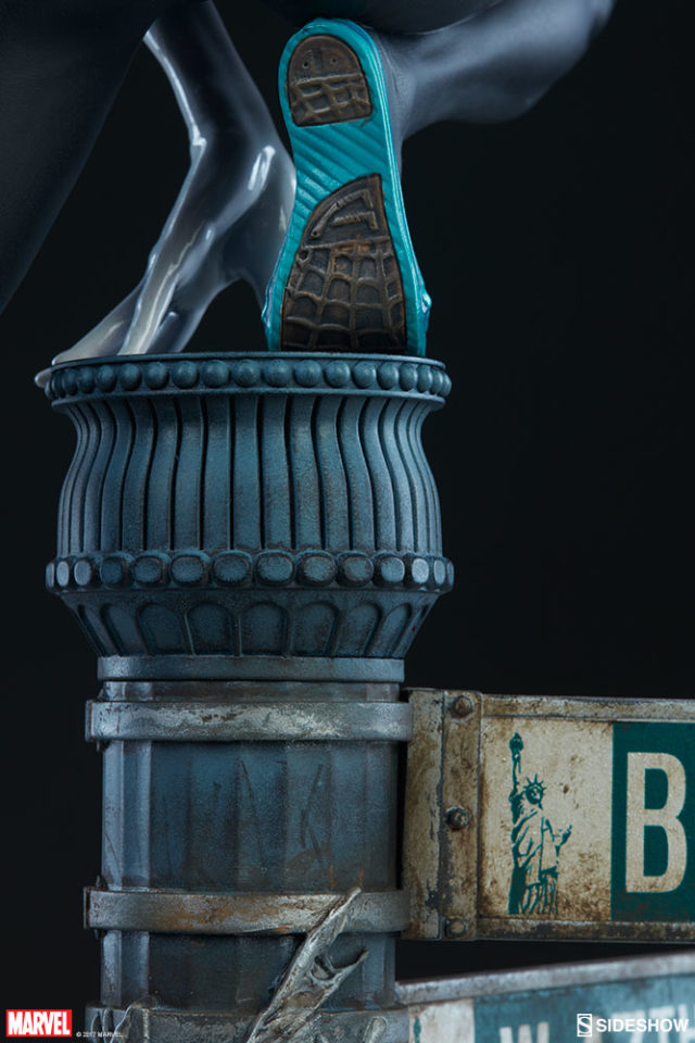 Back of Spider-Gwens Shoes Sideshow Collectibles Statue