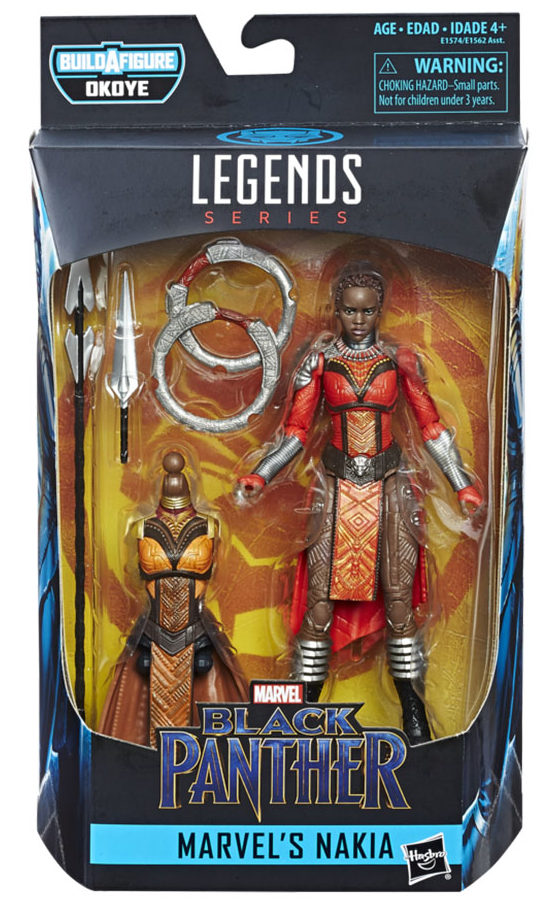 Black Panther Legends Nakia Figure Packaged