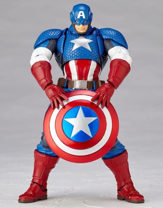 Captain America Kaiyodo Revoltech Holding Shield