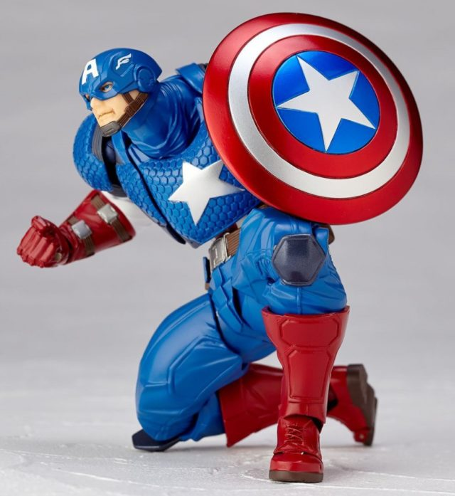Captain America Revoltech in Crouching Pose