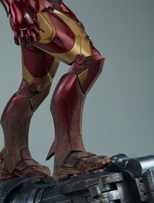 Close-Up of Sideshow Collectibles Iron Man Mark III Statue Boots