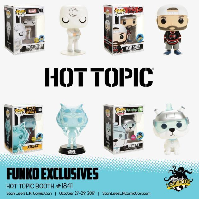Funko Exclusives Stan Lee Comikaze 2017 Hot Topic Booth