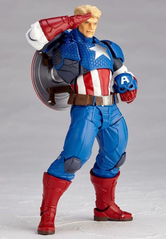 Kaiyodo Captain America Unmasked Revoltech Holding Helmet
