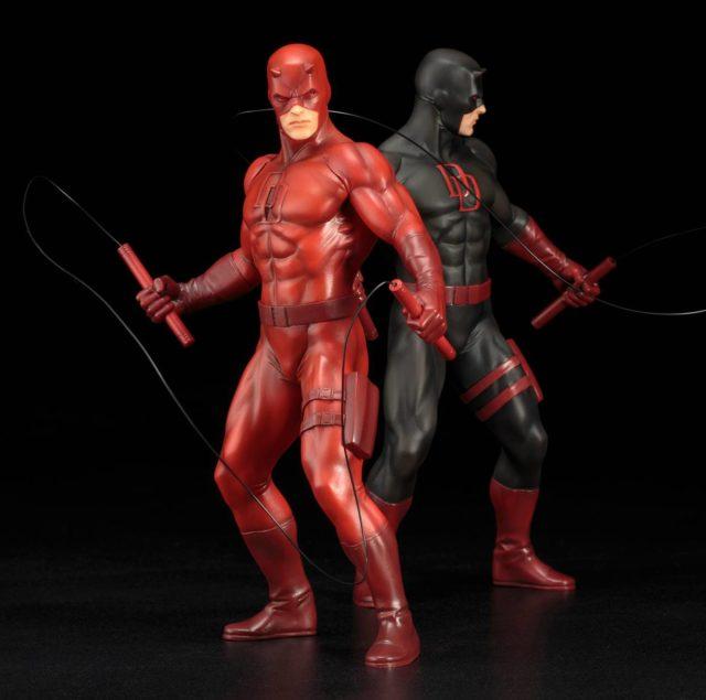 Kotobukiya ARTFX+ Daredevil Statues Black and Red