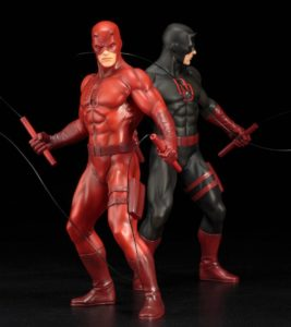 Kotobukiya ARTFX+ Daredevil Statues Black and Red