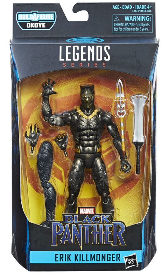 Marvel Legends Killmonger Figure Packaged Black Panther