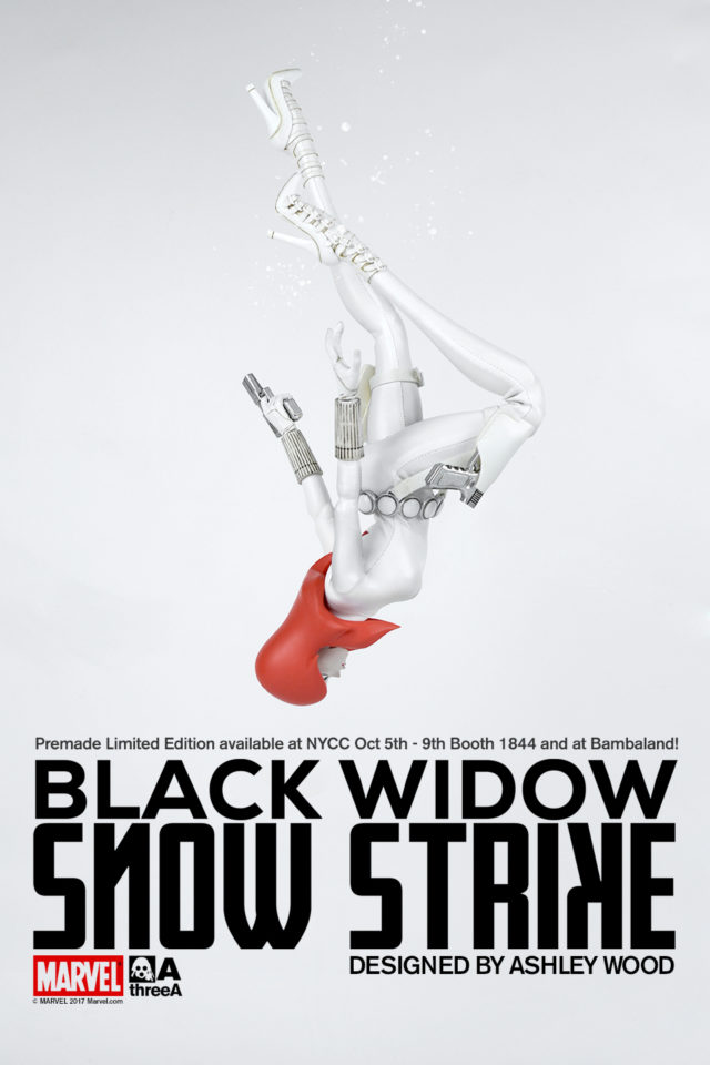 NYCC 2017 Exclusive Snow Strike Black Widow Figure