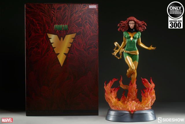 Sideshow Exclusive Green Phoenix Statue and Box