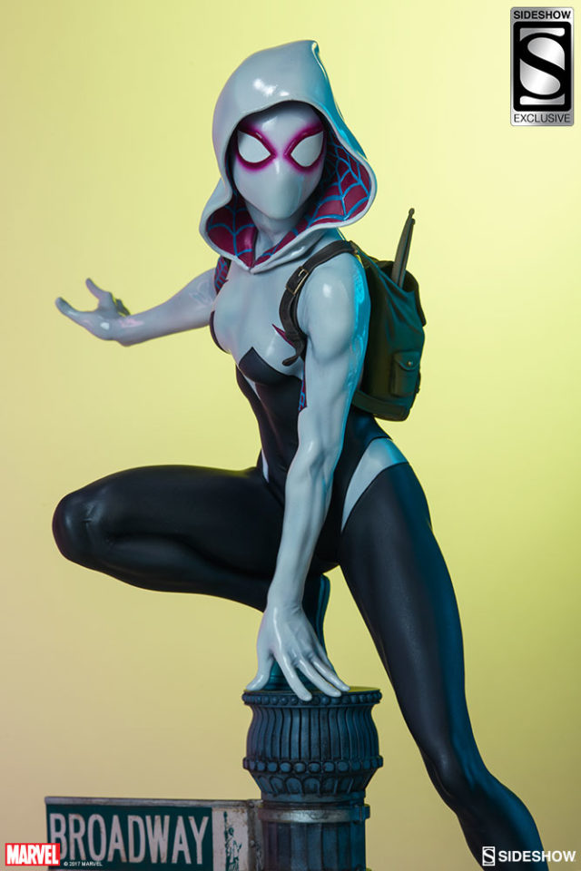Sideshow Exclusive Spider-Gwen Statue with Masked Head