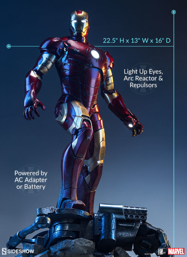 Sideshow Iron Man Mark 3 Maquette Statue Size Scale