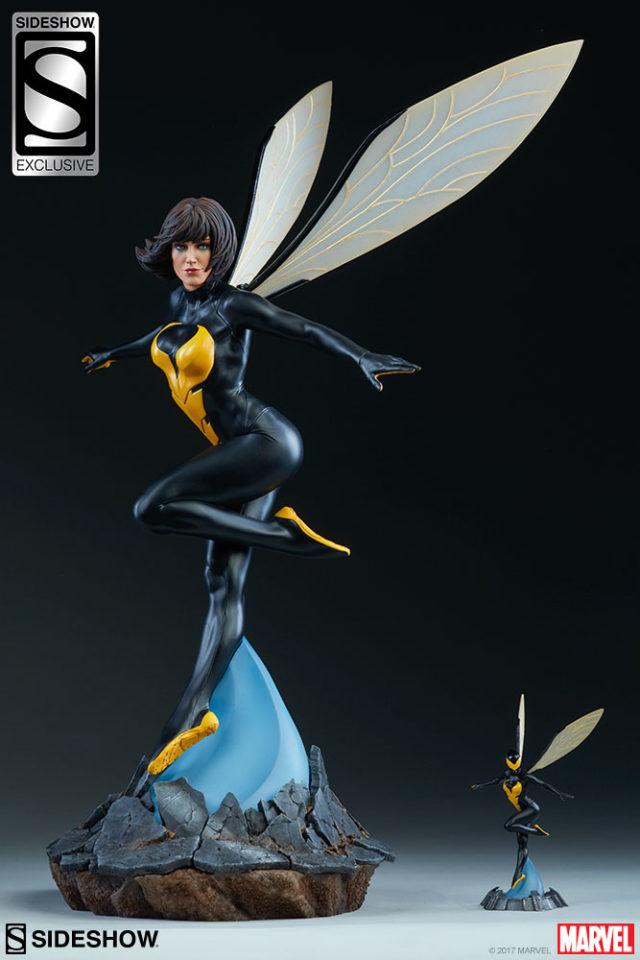 Size Comparison Avengers Assemble Wasp Statue & Miniature