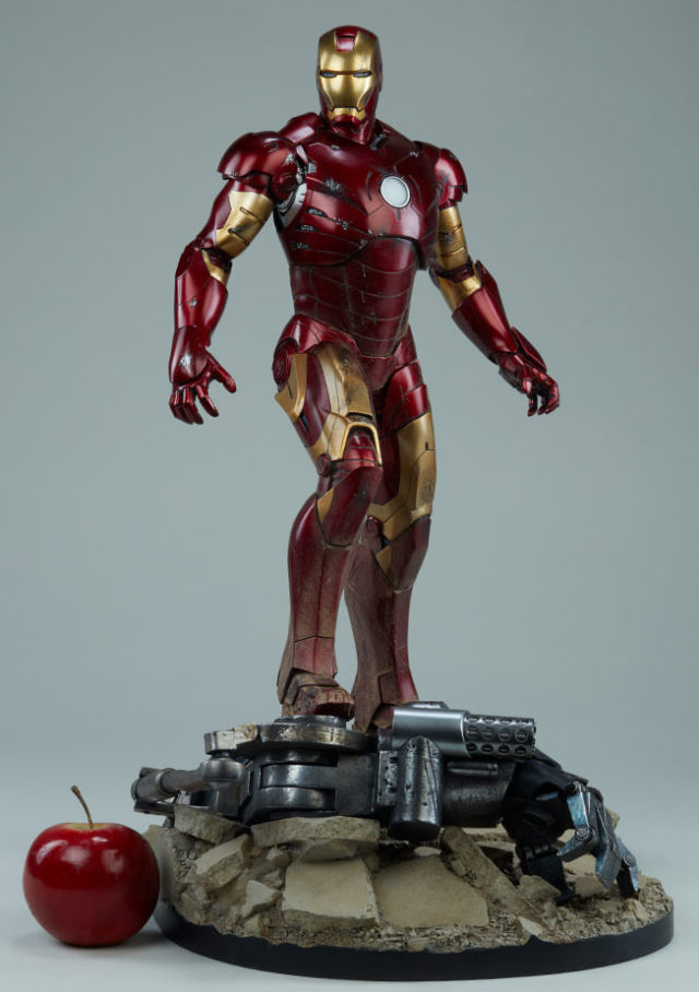 Size and Scale Comparison Photo of Iron Man Mark III Sideshow Maquette