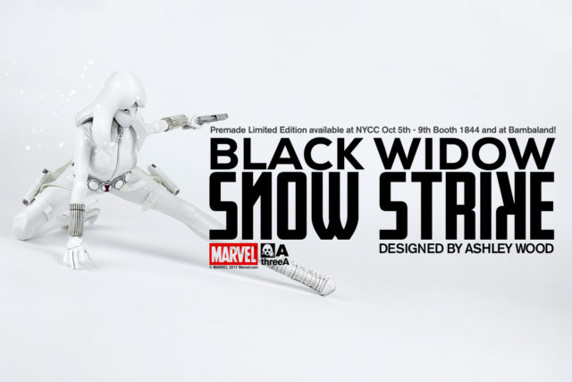 ThreeA Toys NYCC 2017 Snow Strike Black Widow Sixth Scale Figure