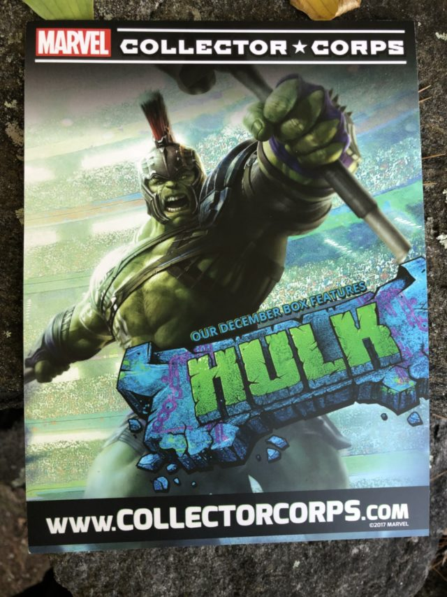 December 2017 Collector Corps Hulk Box Ad
