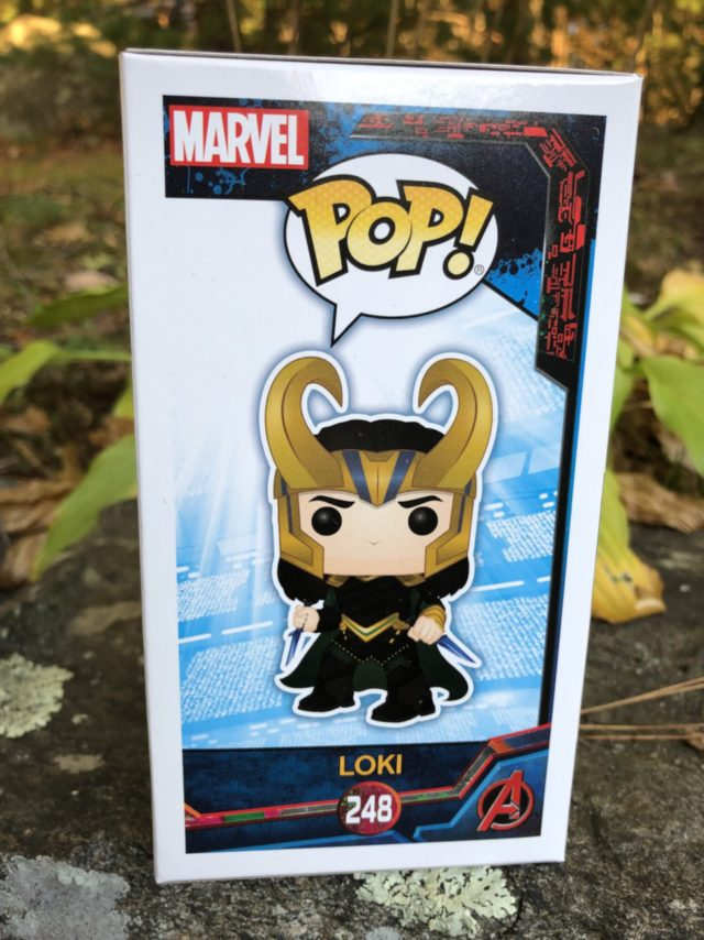 Funko Marvel #248 POP Vinyl Thor 3 Loki Figure Box Side