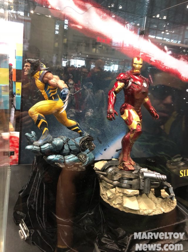 Sideshow NYCC 2017 Wolverine and Iron Man Mark III PF Figure Statues