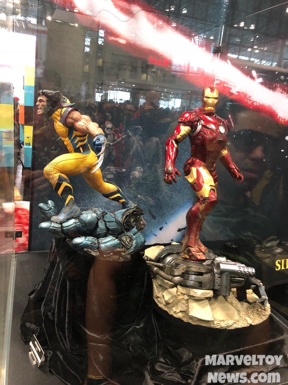 Nycc 2017 Sideshow Wolverine Amp Iron Man Mark Iii Statues