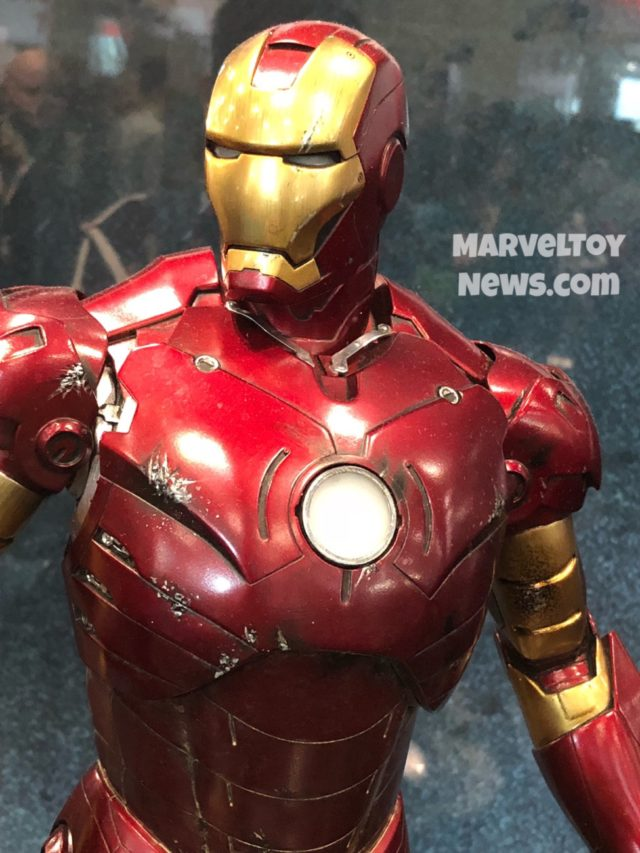 2017 NYCC Close-Up of Sideshow Mark III Iron Man Statue