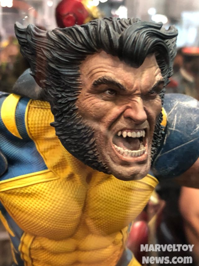 NYCC 2017 Sideshow Wolverine Unmasked Head Close-Up