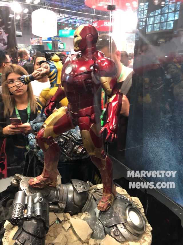 Side View of Mark III Iron Man Maquette at New York Comic Con 2017
