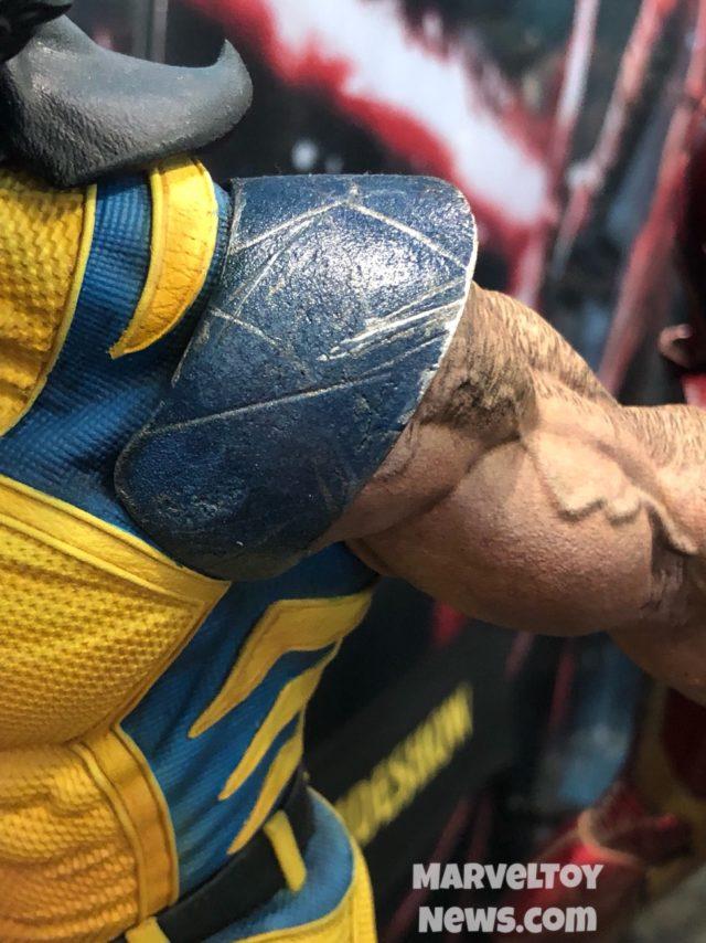 Paint Detail on Wolverine Premium Format Statue NYCC 2017