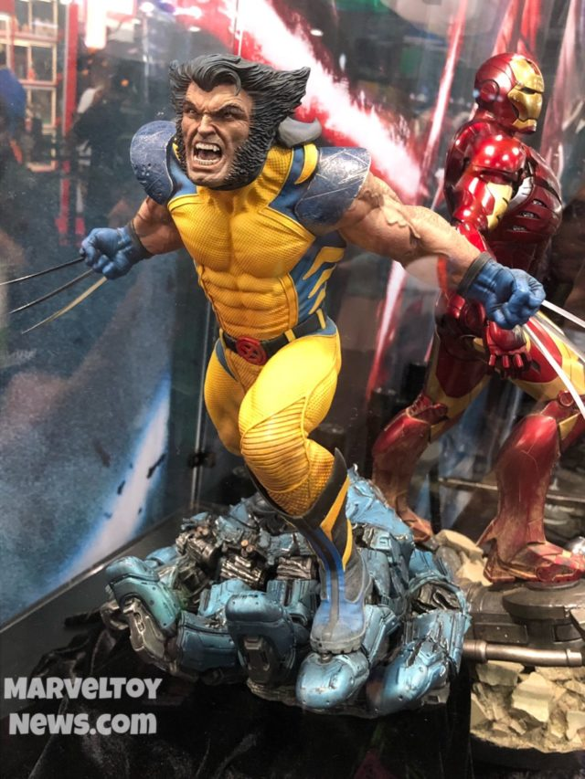 NYCC 2017 Sideshow Collectibles Wolverine and Iron Man Statues