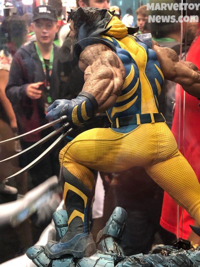 Back of Sideshow Premium Format Astonishing Wolverine Statue
