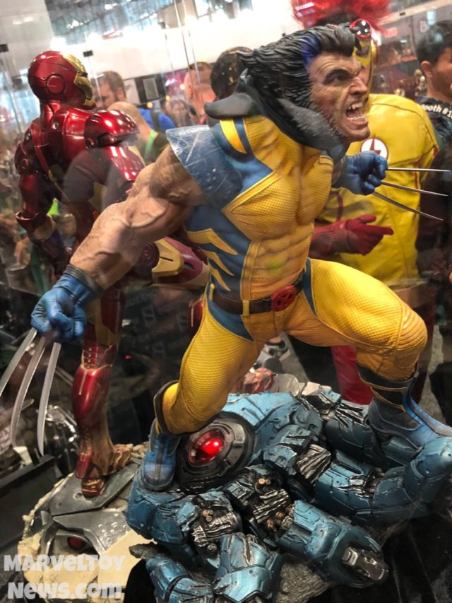 Sideshow Wolverine on Sentinel Hand Base New York Comic Con 2017