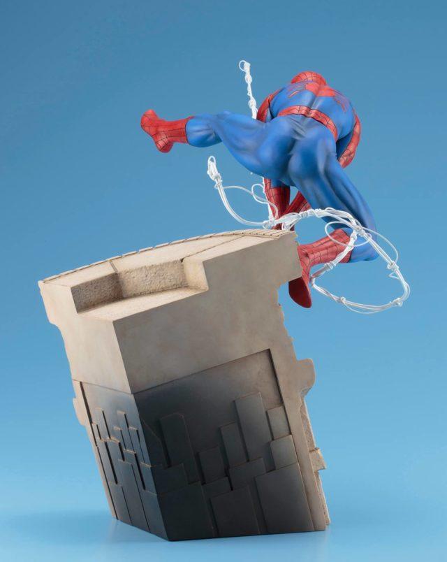 Back of Kotobukiya Webslinger Spider-Man Statue
