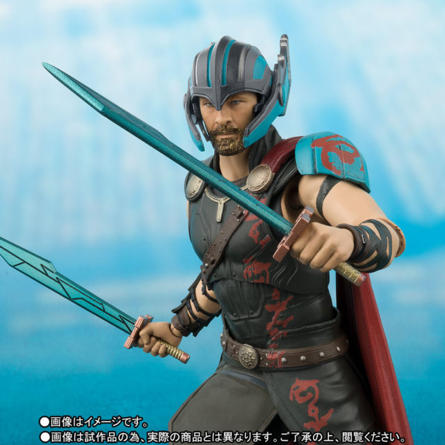 Close-Up of Bandai SH Figuarts Ragnarok Thor Figure Chris Hemsworth Likeness