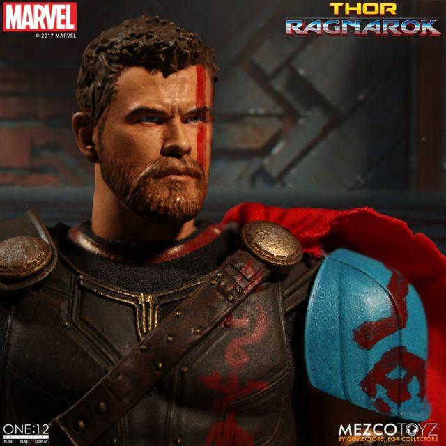 Close-Up of Mezco Thor Chris Hemsworth Portrait Head