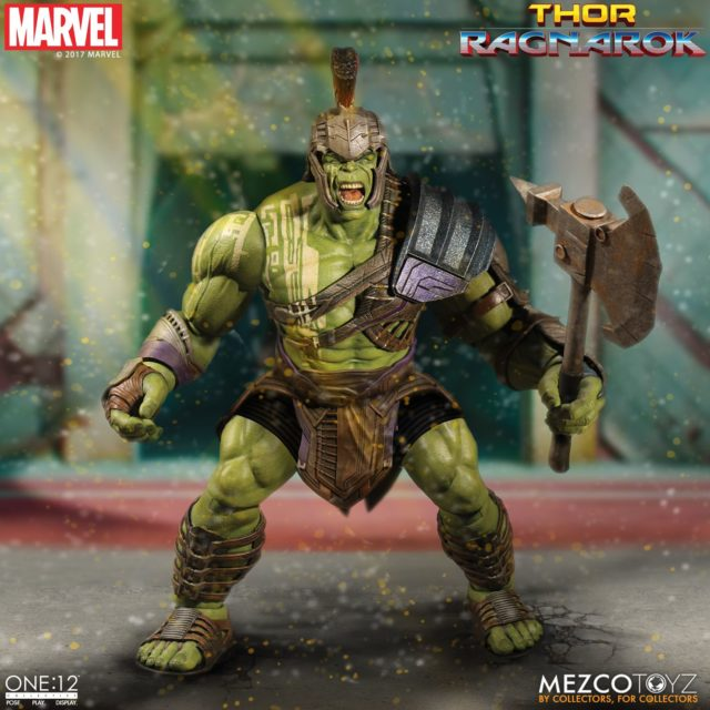 Gladiator Hulk ONE 12 Collective Figure Holding Battle Axe