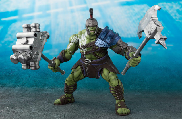 Gladiator Hulk SH Figuarts Figure Wielding Axe and Mace