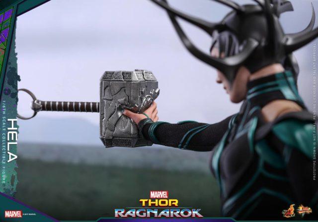 Hela Destroying Mjolnir Hot Toys Movie Masterpiece Series Figure