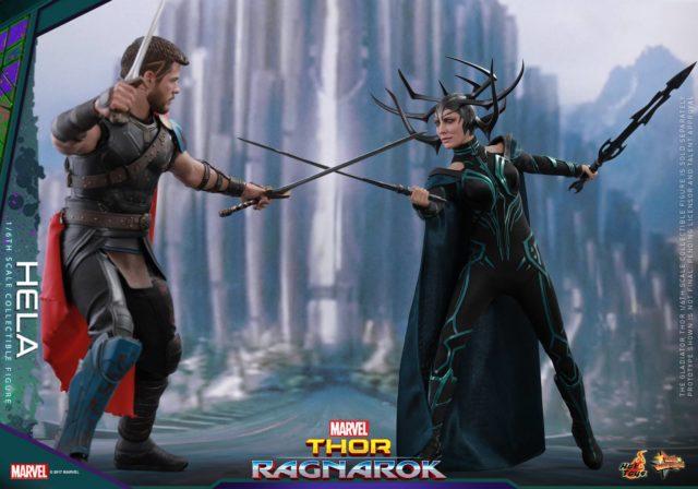 Hot Toys Thor Ragnarok Hela Figure vs Thor