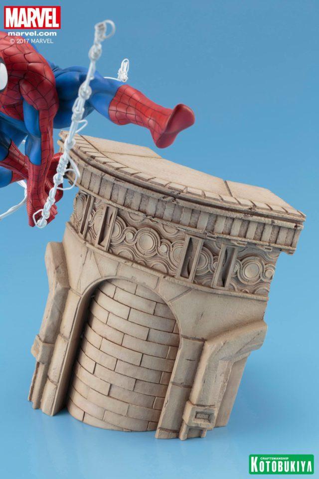 Kotobukiya ARTFX Spider-Man Webslinger Building Base Resin