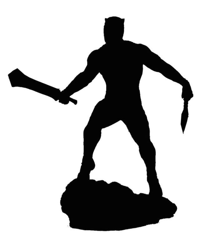 Marvel Gallery Killmonger Statue Silhouette
