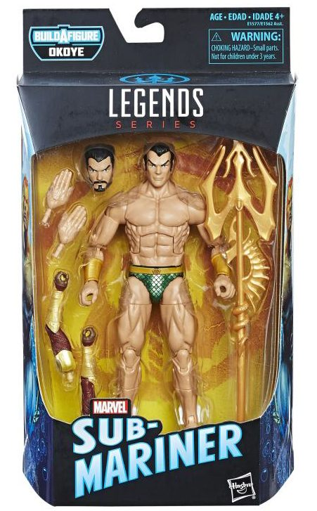 Marvel Legends Black Panther Namor Figure Packaged