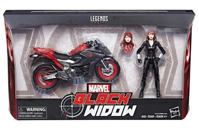 Marvel Legends Black Widow Motorcycle Packaged